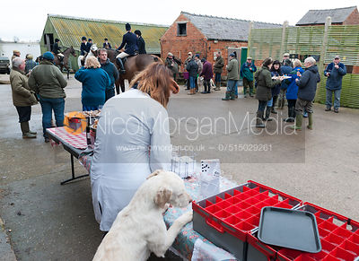 Food at the meet - The Cottesmore Hunt at Northfield Farm 29/1/13