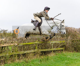 Isobel McEuen jumping at Stone Lodge Farm - The Cottesmore Hunt at Tilton on the Hill, 9-11-13
