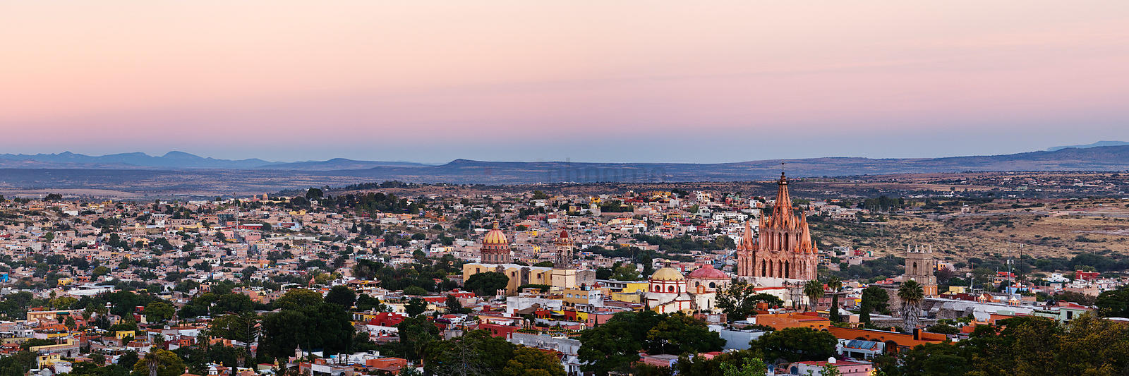 Skyline at dawn, San Miguel de Allende, Mexico