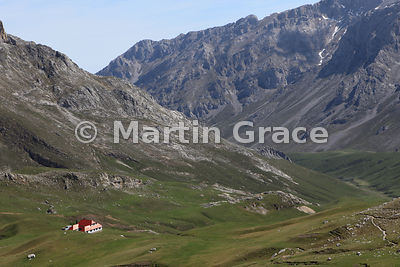 Chalet Real from Passes of Aliva track, Picos de Europa above Fuente De, Cantabria, Spain