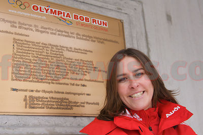 Barbara Hosch at Olympia Bob Run Saint St. Moritz