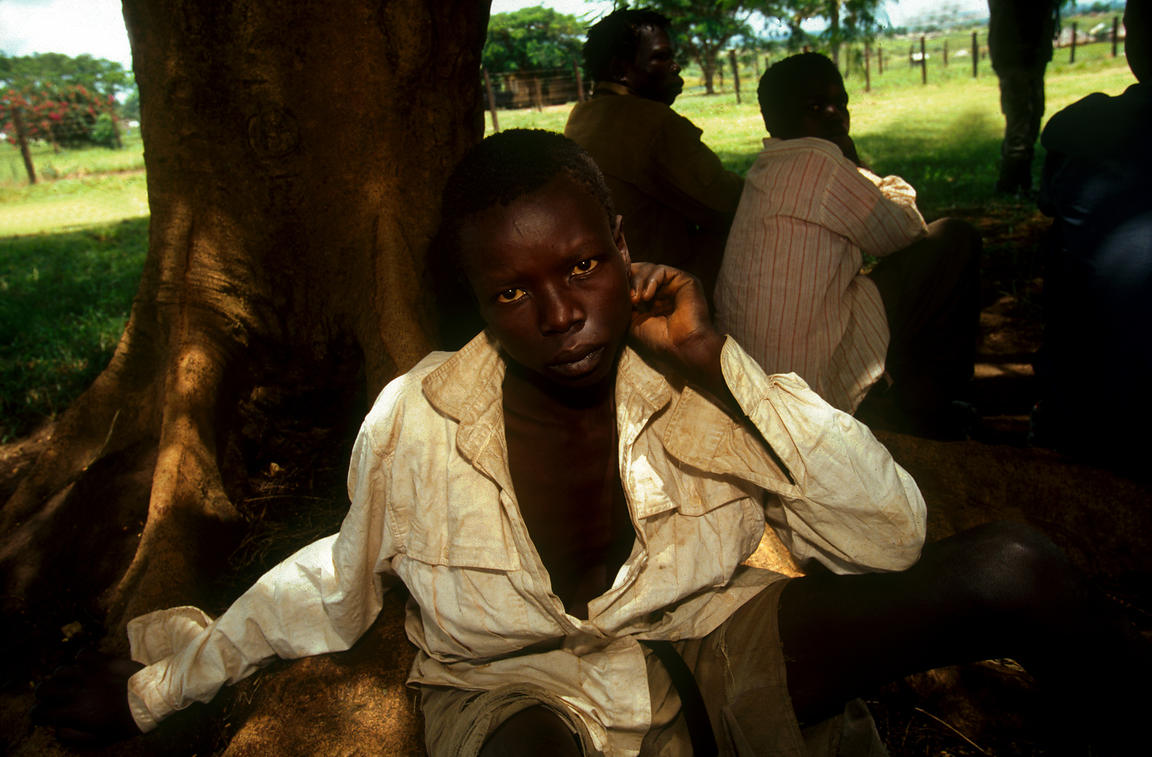Uganda - Gulu - Young abductee fighters from the Lords Resistance Army