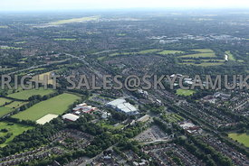 Towers Business Park Didsbury and Parrs Wood with Manchester Airport in distance