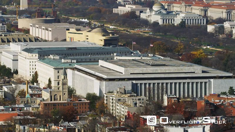 Madison Building of the Library of Congress complex in foreground with Capitol behind.