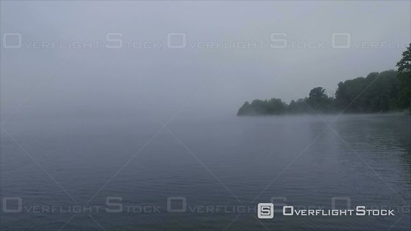 Misty Lake and Asheville Coal Fired Power Plant North Carolina