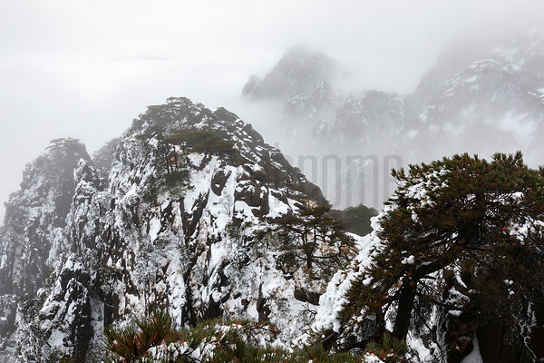 Huangshan Peaks Apperaing from the Mist
