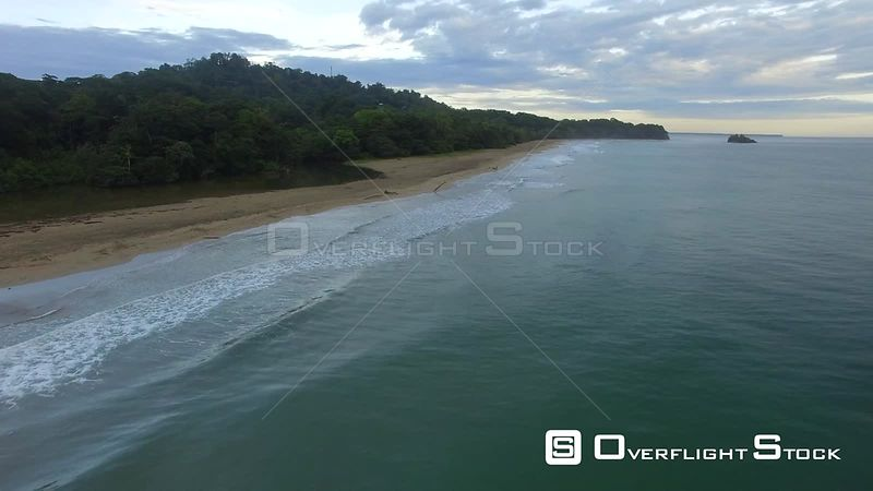 Playa Cocles Beach Caribbean Sea Costa Rica Beach Drone Video