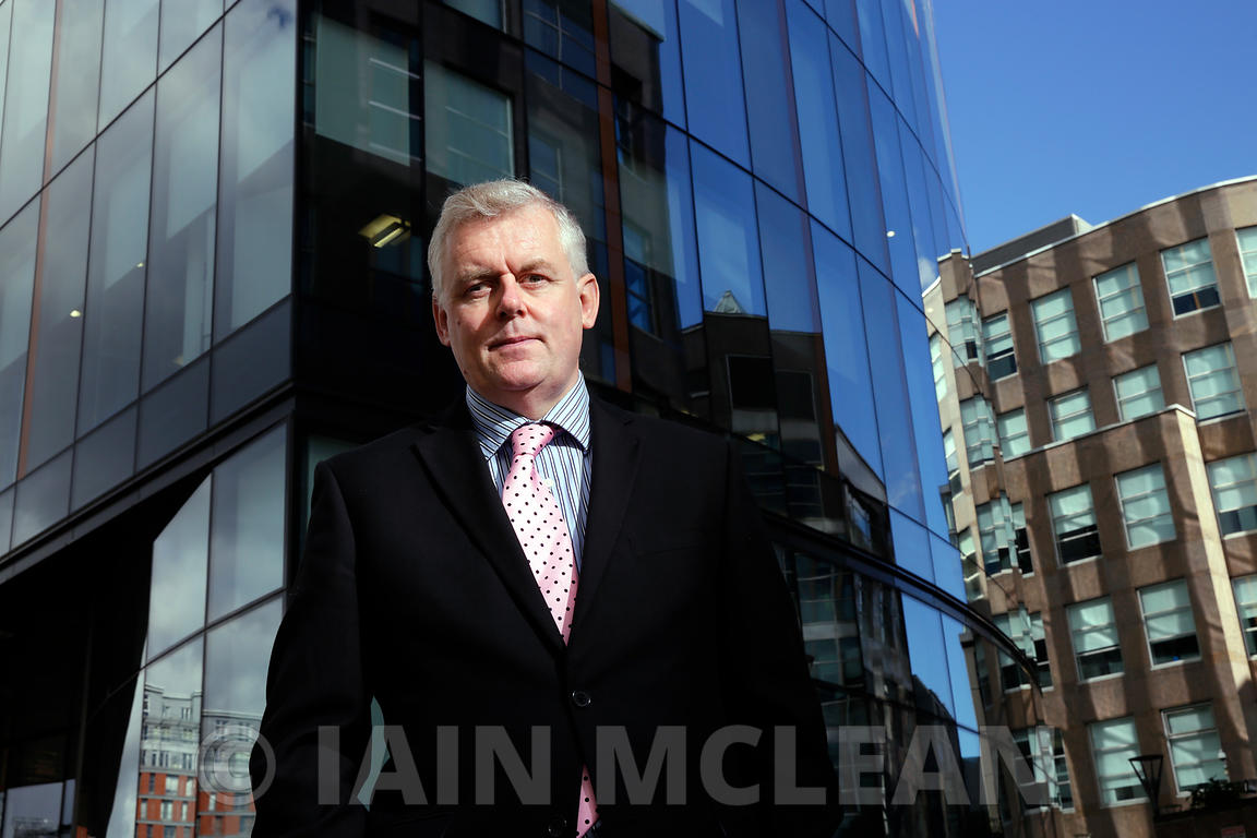 Richard McIndoe, Head of Pensions, Strathclyde Pension Fund..Pictured at his office in Glasgow..18.9.15.Sole Use For Modern I...