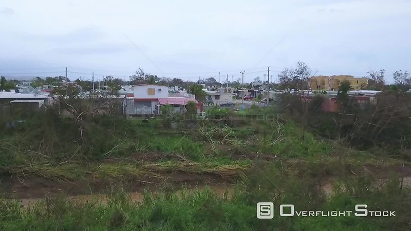 Damage to builidngs in Ponce  from Hurricane Maria Puerto Rico