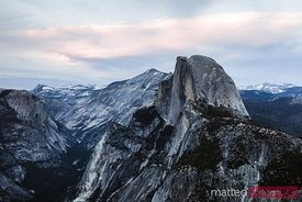 Sunset over Half Dome, Yosemite, California, USA