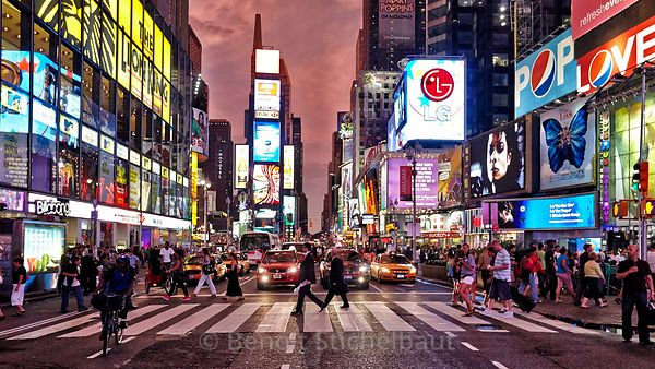 Etats-Unis, New-York, Manhattan, Times Square,  Broadway