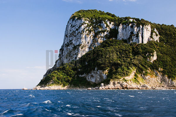 Italy, Capri, view from ferry