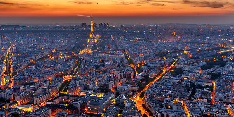 Visit Paris at twilight.