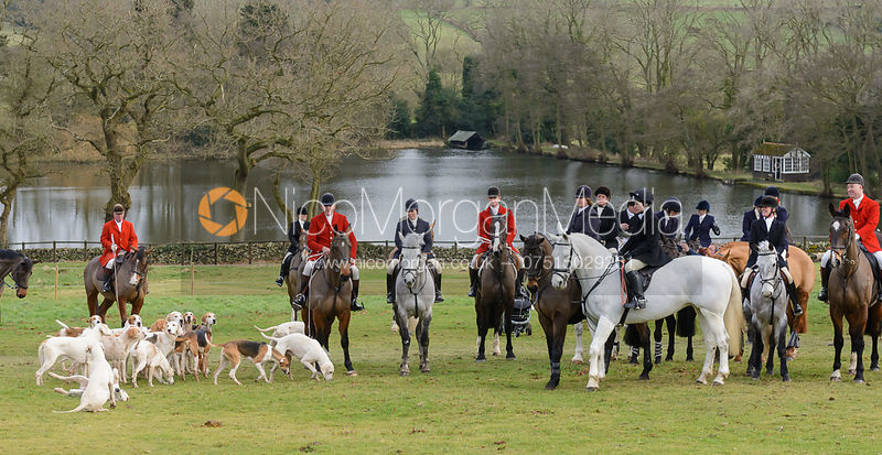 The Quorn Hunt at Poultney Farm 27/1