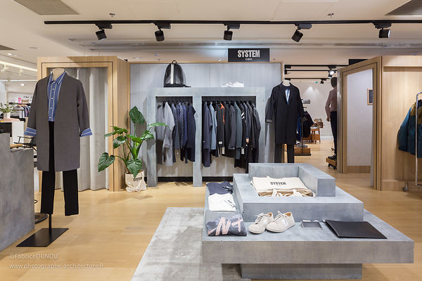 Pop-up store SYSTEM homme aux Galeries Lafayette Paris