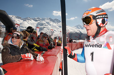Ski World Champion Didier Cuche in Saint St. Moritz at Swiss Championships