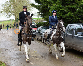 leaving the meet at Springfield Farm 25/2