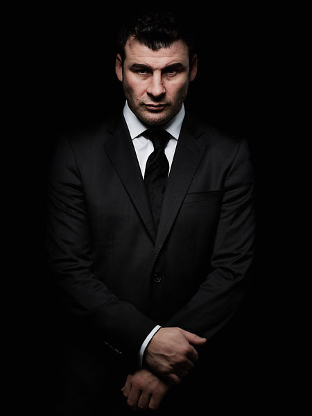 Portrait of boxer Joe Calzaghe