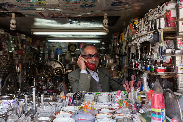 Portrait of a Merchant at the Shiraz Bazaar