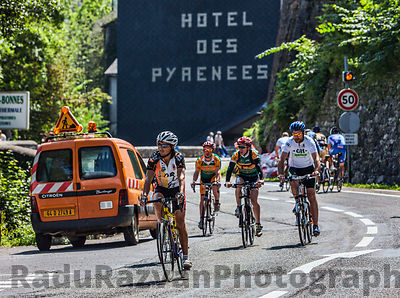 Amateur Cyclists on the Roads of Le Tour de France