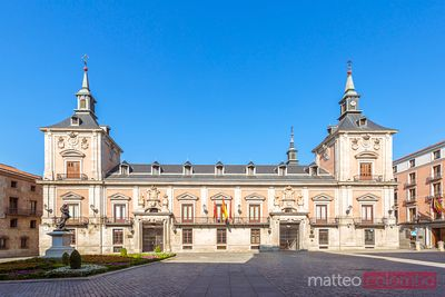Spain, Madrid. Plaza de la Villa with the former city hall