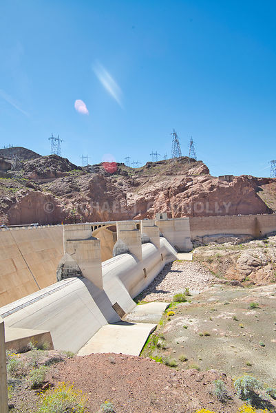 Overflow Trough At Hoover Dam