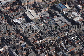 Chester aerial photograph of Eastgate Street and Northgate Street and the Grosvenor shopping centre