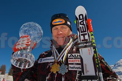 Swiss Ski Team World Cup Champion Didier Cuche in Saint Moritz
