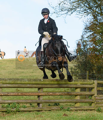 jumping a hunt jump at Burrough House - The Cottesmore at Somerby 5/11