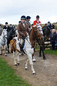Susie Culloty leaving the meet. Quorn Hunt Opening Meet 2018