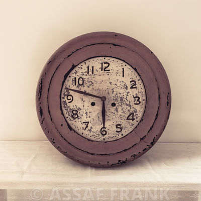 Old-fashioned wooden clock