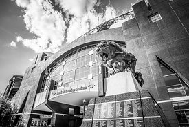 Carolina Panthers Stadium Black and White Photo