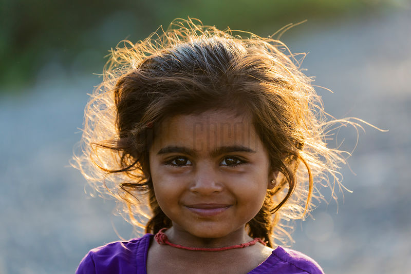 Portrait of a Young Girl at Sunrise
