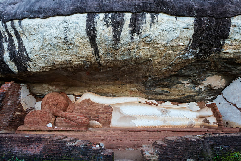 Reclining Buddha on the Trail to the Summit of Pidurangala Rock