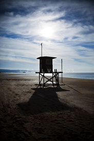 Newport Beach Lifeguard Tower Photography