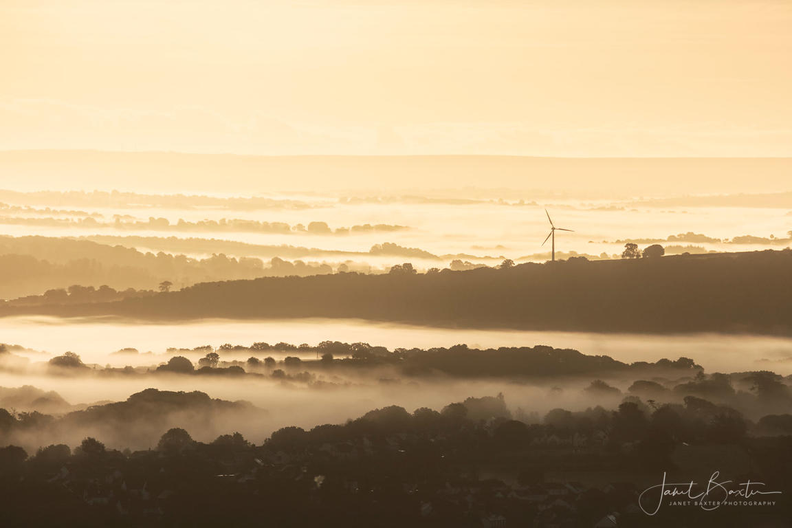 Teifi valley at sunrise, near Cardigan