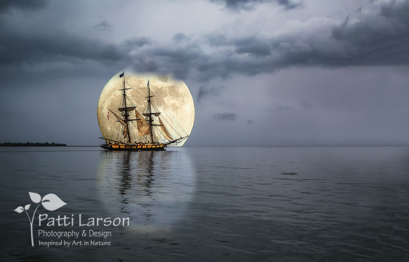 Moonlight Sail of the Flagship Niagara