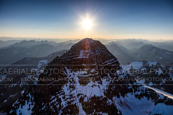 Sun over Mount Assiniboine
