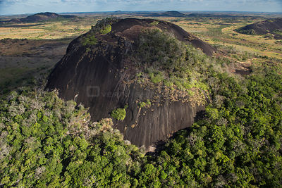 Granite outcrops on South Rupununi savanna, Guyana, South America