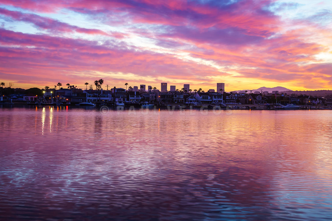 Newport Beach California Skyline Sunrise Photo