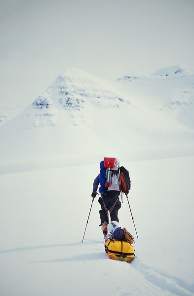 "Andrew McLean, during production of ""Steep"", Olafsfjordur, Iceland"