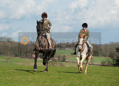 Ned Forryan and Marcus Speed - The Cottesmore Hunt meet at Home Farm, Brooke 3/3/12