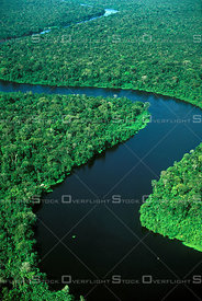 River in Amazon Rainforest Basin Brazil