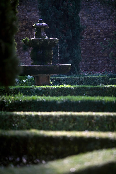 Italy - Verona - A fountain in the Giardino Giusti