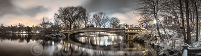 Bow bridge over Turtle pond in Central park, New York