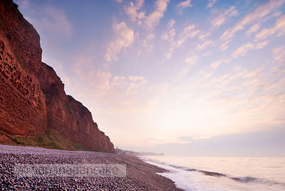 The beach at Budleigh Salterton - BP1332