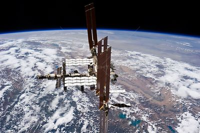 ABOARD THE INTERNATIONAL SPACE STATION -- 19 July 2011 -- This picture of the International Space Station was photographed fr...