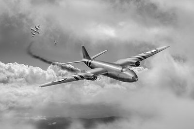 Suez Canberra PR7 shoot down BW version