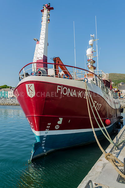 Fiona K II At Dingle Harbor (Vertical)- Dingle, Ireland