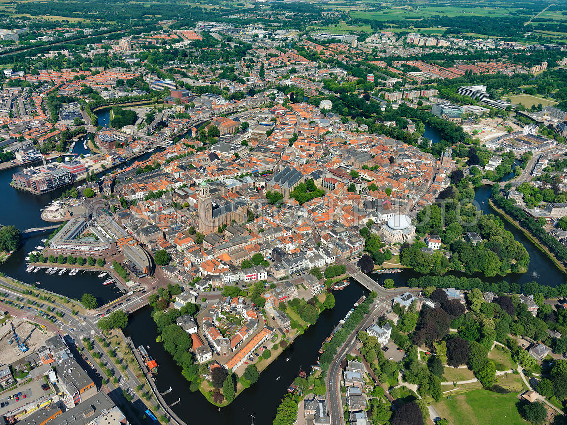 aerial view   Zwolle, the Hanseatic city was granted city rights ...
